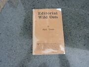 Editorial Wild Oats By Mark Twain.1st Edition In The Scarce First Issue Dj 1905