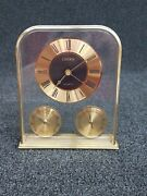 Vintage Linden Desk Clock - With Thermometer And Hygrometerhumidity