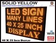 40 X 25 Inch Led Yellow Wifi Indoor Semi-outdoor Programmable Scrolling Sign