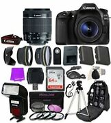 Canon Eos 80d Digital Slr Camera With Ef-s 18-55mm F/3.5-5.6 Is Stm Zoom Lens