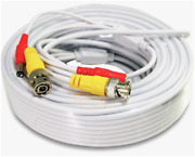 100ft Cctv Security Camera Cable Cctv Video Power Wire Bnc Cord Dvr Lot Wt