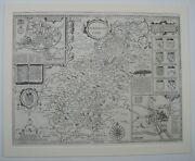Northamptonshire Antique Map By John Speed, 1611 1st Edition