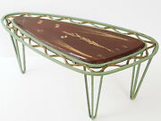 Coffee Table Extra Tripod Metal Resin Inclusions Herbarium 1950 Vintage 50and039s