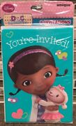 Disney Doc Mcstuffins Birthday Party Invitations And Envelopes Package Of 8