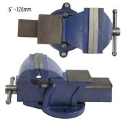 Heavy Duty 5 Inch Work Bench Vice Engineer Jaw Swivel Base Vise Clamp Metal Tool