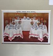 Isabella Beeton Print, Supper Tables With Buffet, Circa 1909.