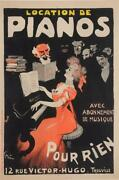 Original Vintage French Poster Trouville - Location De Pianos By Grun