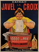 Original Vintage French Poster For Javel La Croix Bleach By Oge Ca. 1900