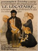 Original Vintage French Poster For Le Locataire The Tenant By Steinlen 1913