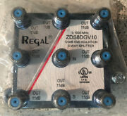 10 Regal 8-way High Performance Coaxial Splitter Signal Zds8dgv10 Cable Tv Hd