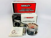 Wiseco 1400hd Pistons Manley Rods For 4g63t 7-bolt 86.5mm 8.71 22mm Pin