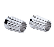 Indian Motorcycle Chrome Grooved Billet End Caps For 2014-2021 Stage 1 Exhaust