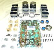 Mercury 150 Hp V6 Xr4 Power Head Rebuild Kit And03988-and03992- 27-11338a88 - Std Size