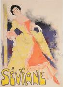 Original Vintage French Poster Seviane By Grun Before 1896