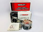 Wiseco Pistons Manley Rods For 02-11 Honda K24 With K20 Head 88mm 13.01