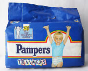Rare Vintage 90's Pampers Trainers 15kg 33lbs Large Size Boy Diapers New Sealed