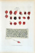 Seals And Deeds 1838 Thomas Fisher Stratford-upon-avon Lithograph 127-142