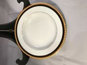 Limoge Black Band Soup Bowls Set Of 12 8.5 Inches Mint