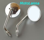 Mirrors Classic Round Stainless And Billet Alloy Yamaha Sr500 Xs650 Rd Cafe Racer