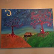 Sweet Nightmare 3 Original Oil Painting By Christy Mcgraw Creepy, Doll,