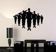 Vinyl Wall Decal Silhouette American Soldiers Military Patriotic Stickers Ig5105