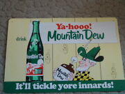Mountain Dew Embossed Sign - New Old Stock