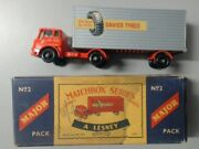 Collectable Matchbox Car Truck Toys Lesney No.2 Major -in Box-