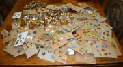 670 French Pins Badges Broochs Large Lot With Some Backs