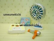 Re-ment Dollhouse Miniature Old Fashioned Electric Fan Scale Hair Dryer 2006