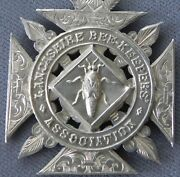 Antique Sterling Silver Lancashire Bee Keepersand039 Association Watch Fob Medal 1910