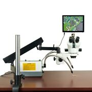 Omax 2.1x-270x 5mp Touchpad Zoom Stereo Microscope Articulating Arm + 150w Light