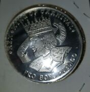 Rex 1967, .999 Fine Silver New Orleans Mardi Gras Doubloon No Beads F95.