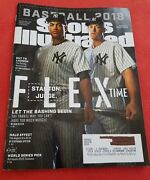 2018 Sports Illustrated Si Baseball Preview Stanton Judge Subscription Copy