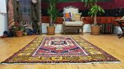 Beautiful Vintage 1950-1960s Henna Dyes 4and039x6and0395 Wool Pile Tribal Rug