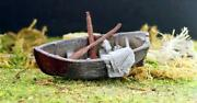 Old Derelict Wooden Boat Left For Dead Ho Scale Weathered Detail 1/87 Scale