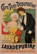 Original Vintage French Poster For Laxadepurine - Cure Toni-depurative By Oge C