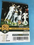 Oakland Athletics A's San Francisco Giants Ticket Stub 1989 World Series Picture