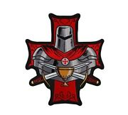 Large Knights Templar Holy Grail 10 X 12 Iron On Back Patch 5989l26