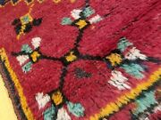 Primitive 1920-1930s Antique Wool Pile 3and0394andtimes10and0398 Natural Dye Runner Rug