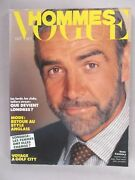 Vogue Hommes Magazine - October, 1980 Sean Connery Nice Condition