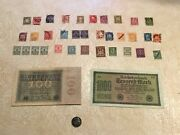1921 Coblenz 10p Coin Unc Banknote 10 And 100 Million Mark 1922 11 Unc Stamp 1921