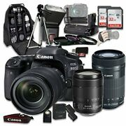 Canon Eos 80d Wi-fi Full Hd 1080p Digital Slr Camera With 2 Lens