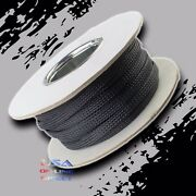 1 100 Ft Expandable Braided Conduit Wire Cable Weave Sleeve Hose Cover Tube Usa