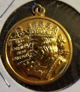 Rex 1998 14k Gold New Orleans Mardi Gras Doubloon Charm F988.
