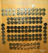 1964 - 2021 Kennedy Half Pandd 122 Coin Complete Uncirculated And Satin Set Wsilver