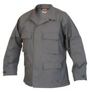 Tru-spec Charcoal Grey Bdu Coat 65/35 Poly/cotton Rs