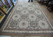 9'x 12' Antique French Chic Shabby Canterbury Aubusson Hand-woven Wool Rug Vtg