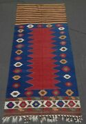 Stunning Rare Antique Caucasian Kazak Door Cover Kilim. A+ Cond And Natural Dyes