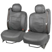 Luxury Thick Pu Leather Car Seat Covers For Built-in Seat Belts - Front Seats