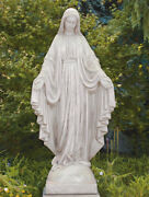 65 Blessed Mother Virgin Mary - Concrete Cast Stone Garden Statue